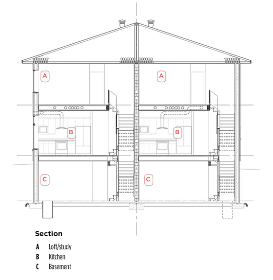 Residential - ICF house - interior crossection