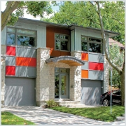 Residential - ICF house - front entrance