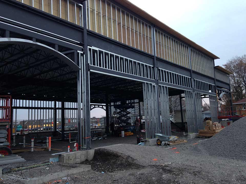 Commercial - 2140 Carling Rd. - steel framing, steel studs window ...