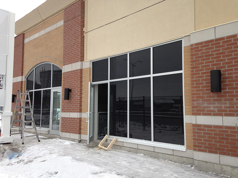 Insulated Glazing Storefront System : Aluminum brick chicken under bricks great project on h
