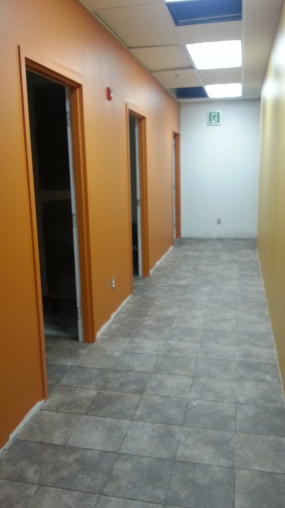 Commercial - Anytime Fitness interior corridor