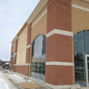Commercial project - 2140 Carling Rd. - west corner with windows