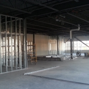 Commercial project - Anytime Fitness - steel framing