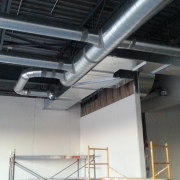 Commercial project - Anytime Fitness - ventilation