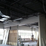 Commercial project - Anytime Fitness - steel framing and walls