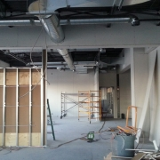 Commercial project - Anytime Fitness - interior walls