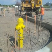 Commercial project - March Rd. - fire hydrant, curb maching, concrete cast in place