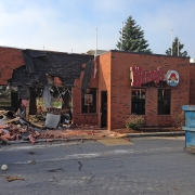 Commercial project - Wendy's at Gardiners Rd., Kingston - flagship store - new design, first in ontario - exterior demolition