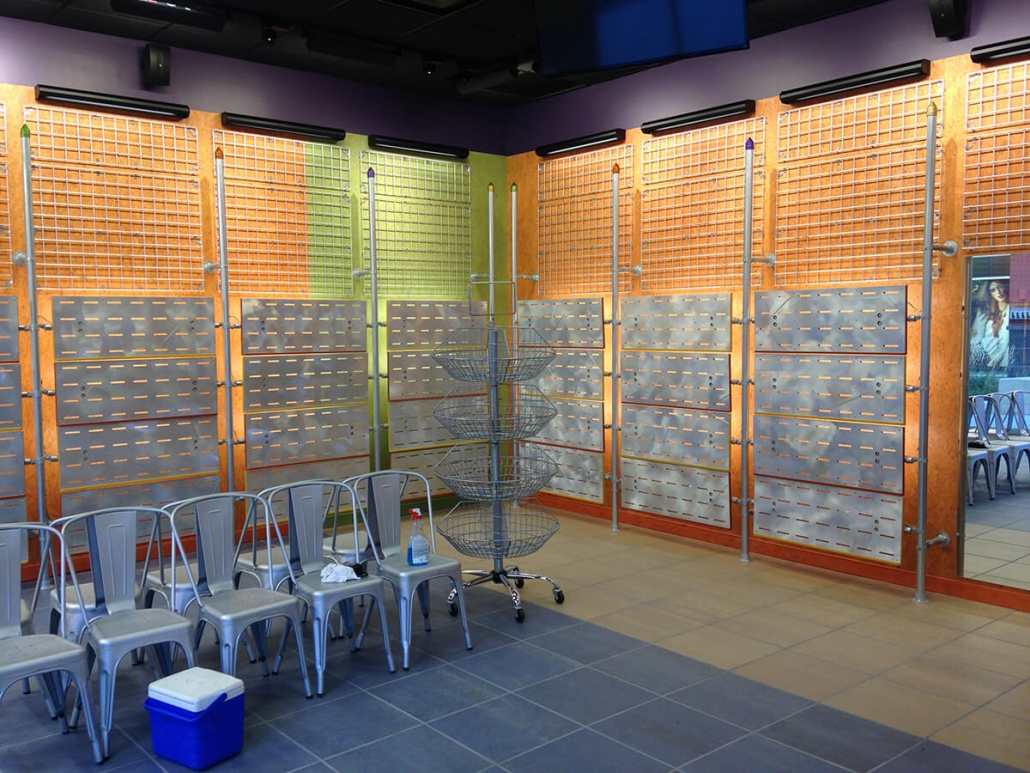 Interior fit-up - Journey Shoes store - wall fixtures