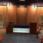 Interior fit-up - Journey Shoes store - wall fixtures and sales counter