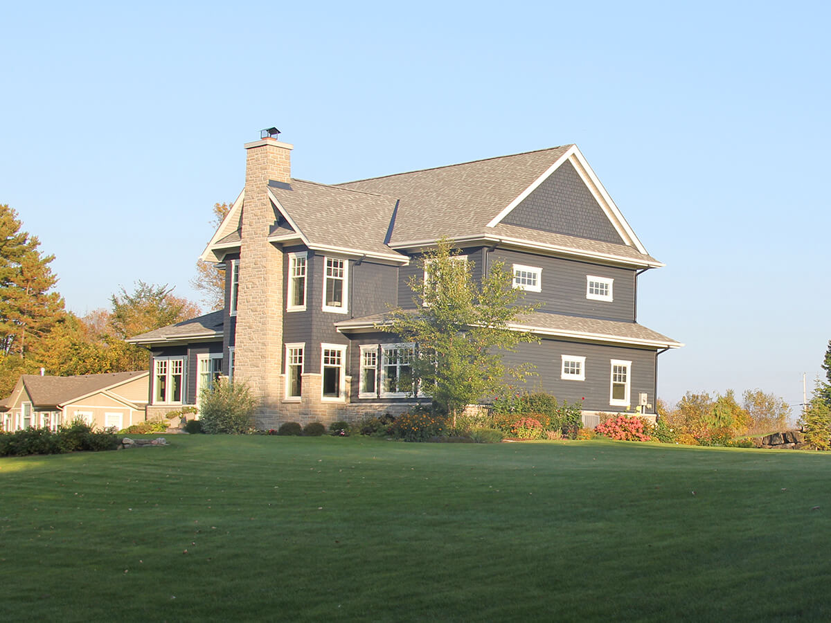 Residential projects blue house with white trim r k - White house white trim ...