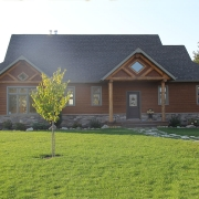Residential project - brown house - front view