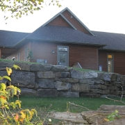 Residential project - brown house - side view