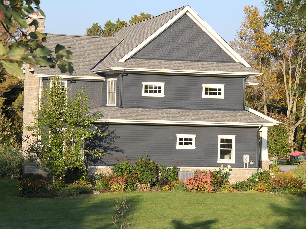 Residential projects blue house with white trim r k - White house with blue trim ...