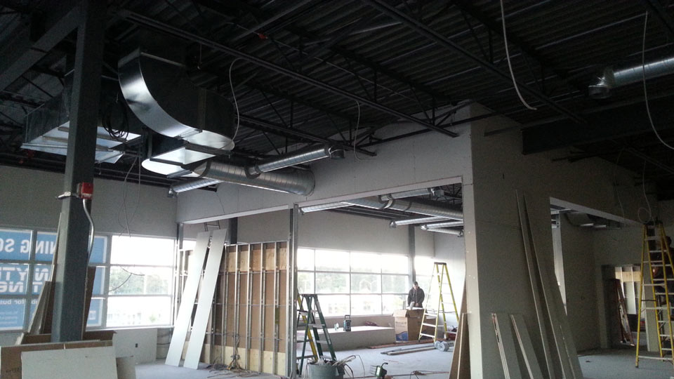 Commercial - Anytime Fitness interior drywall
