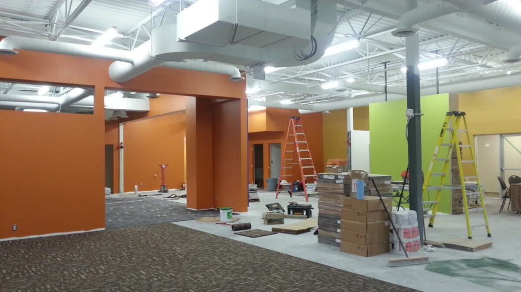 Commercial project - Anytime Fitness - interior