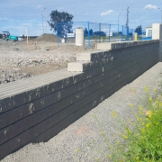 Commercial project - March Rd. - retaining wall installation