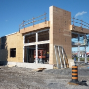 Commercial project - Wendy's at Gardiners Rd., Kingston - flagship store - new design, first in ontario - framing