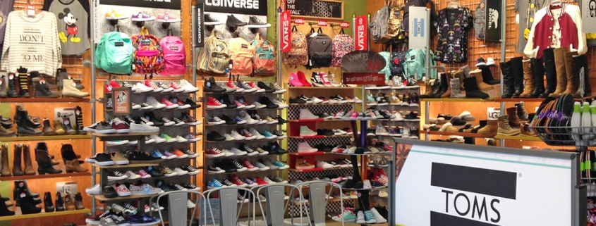 Interior fit-up - Journey Shoes store - with products