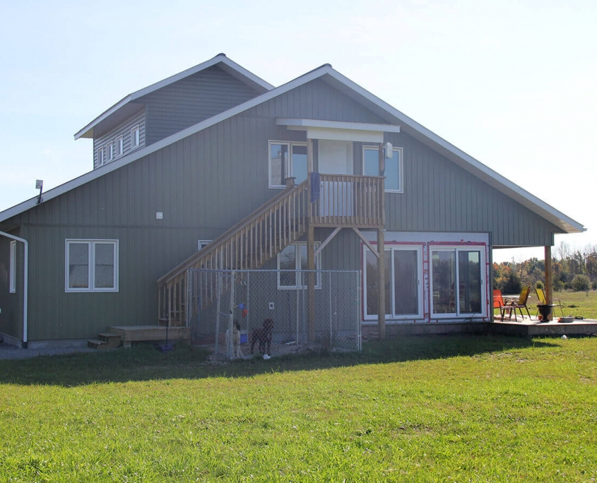 Residential project - Vogt house - left side view