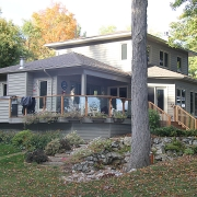 Residential projects - house with gazebo - left rear